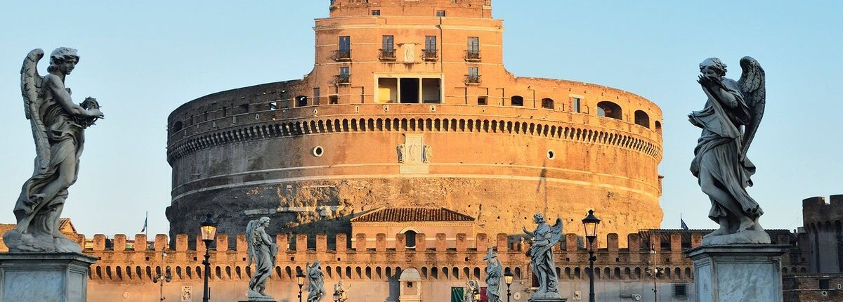 Castel Sant Angelo and Ponte Sant Angelo, Rome, Lazio, Italy, Europe